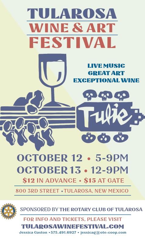 Tulie Wine Fest Poster - 2018